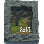 Gray 8x10 Rock Picture Frame
