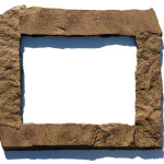 Tan 11x14 Rock Picture Frame